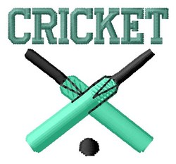 Cricket embroidery design