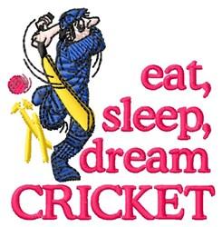 Dream Cricket embroidery design