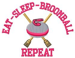 Eat Sleep Broomball embroidery design
