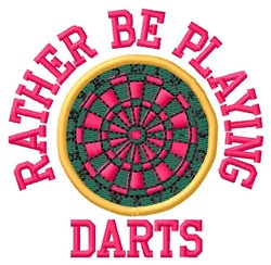 Playing Darts embroidery design