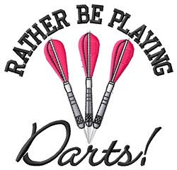 Rather Play Darts embroidery design