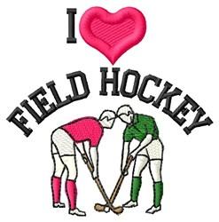 Love Field Hockey embroidery design
