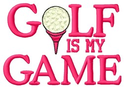 Golf Game embroidery design