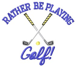Playing Golf embroidery design