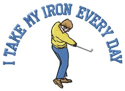 Iron Every Day embroidery design