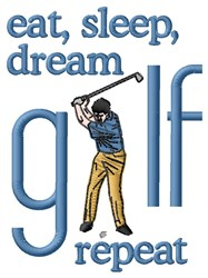 Dream Golf embroidery design