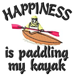 Paddling Happiness embroidery design