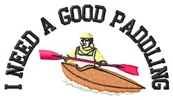 Good Paddling embroidery design