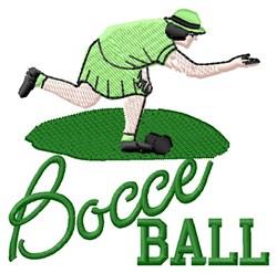 Bocce Ball embroidery design