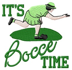 Bocce Time embroidery design