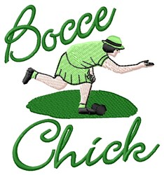 Bocce Chick embroidery design