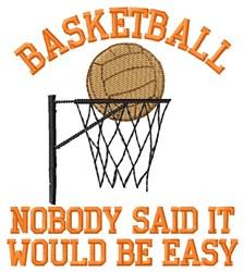 Baskeball Be Easy embroidery design