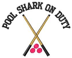 Shark On Duty embroidery design