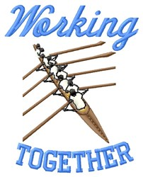 Working Together embroidery design