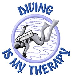 Diving Therapy embroidery design