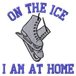 At Home On Ice embroidery design