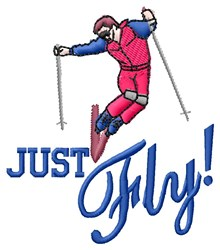 Just Fly embroidery design
