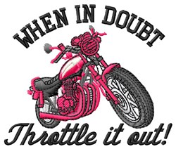 Motorcycle Throttle embroidery design