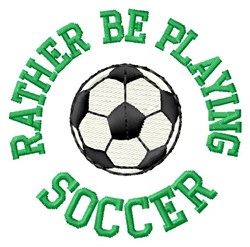 Playing Soccer embroidery design