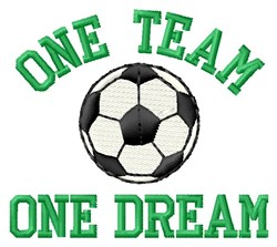 One Team Soccer embroidery design