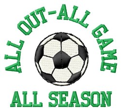 All Out Soccer embroidery design