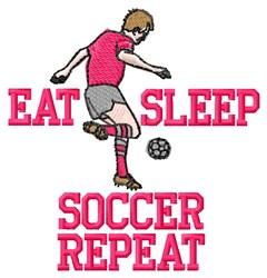 Eat Sleep Soccer embroidery design