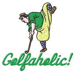 Golfaholic embroidery design