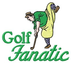Golf Fanatic embroidery design