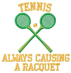 Causing A Racquet embroidery design