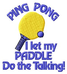Ping Pong Paddle embroidery design