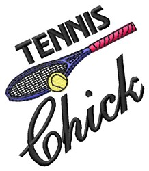 Tennis Chick embroidery design
