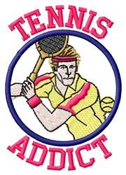Tennis Addict embroidery design