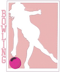 Womens Bowling embroidery design