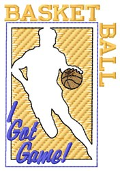 Basketball I Got Game embroidery design