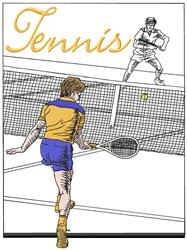 Tennis Match embroidery design