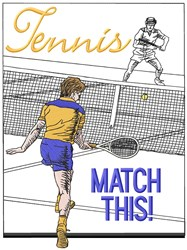 Tennis Match This embroidery design
