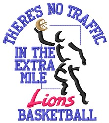 No Traffic Lions Basketball embroidery design
