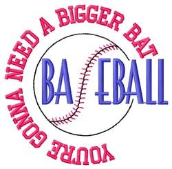 Bigger Bat Baseball embroidery design