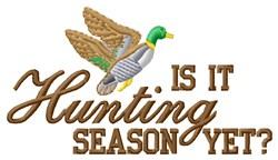 Mallard Hunting Season embroidery design