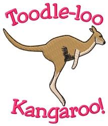Toodle-loo Kangaroo embroidery design