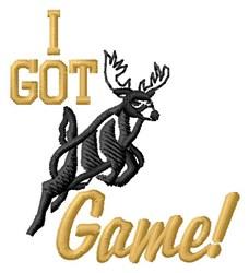 Got Game Deer embroidery design
