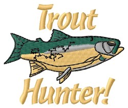 Trout Hunter embroidery design
