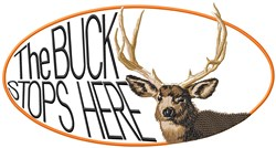 The Buck Stops Here embroidery design