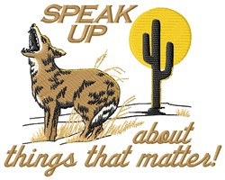 Speak Up Wolf embroidery design