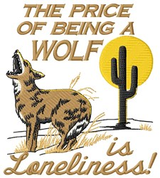 Being A Wolf embroidery design