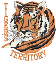 Tigers Territory embroidery design