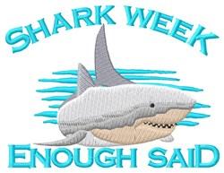 Shark Week embroidery design