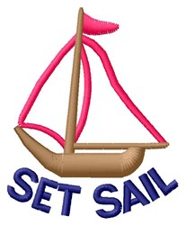 Set Sail embroidery design