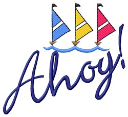Ahoy Boating! embroidery design
