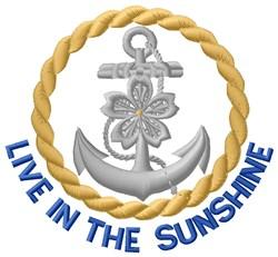Sunshine Anchor embroidery design